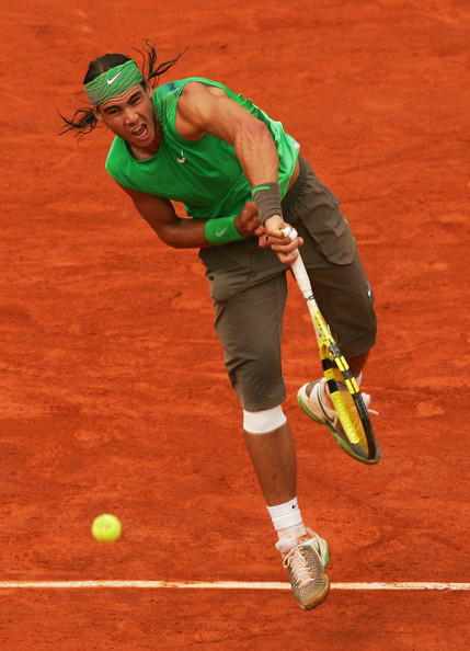 Image result for Rafael Nadal ever green on red dust