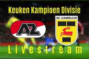 Livestream Jong AZ - SC Cambuur