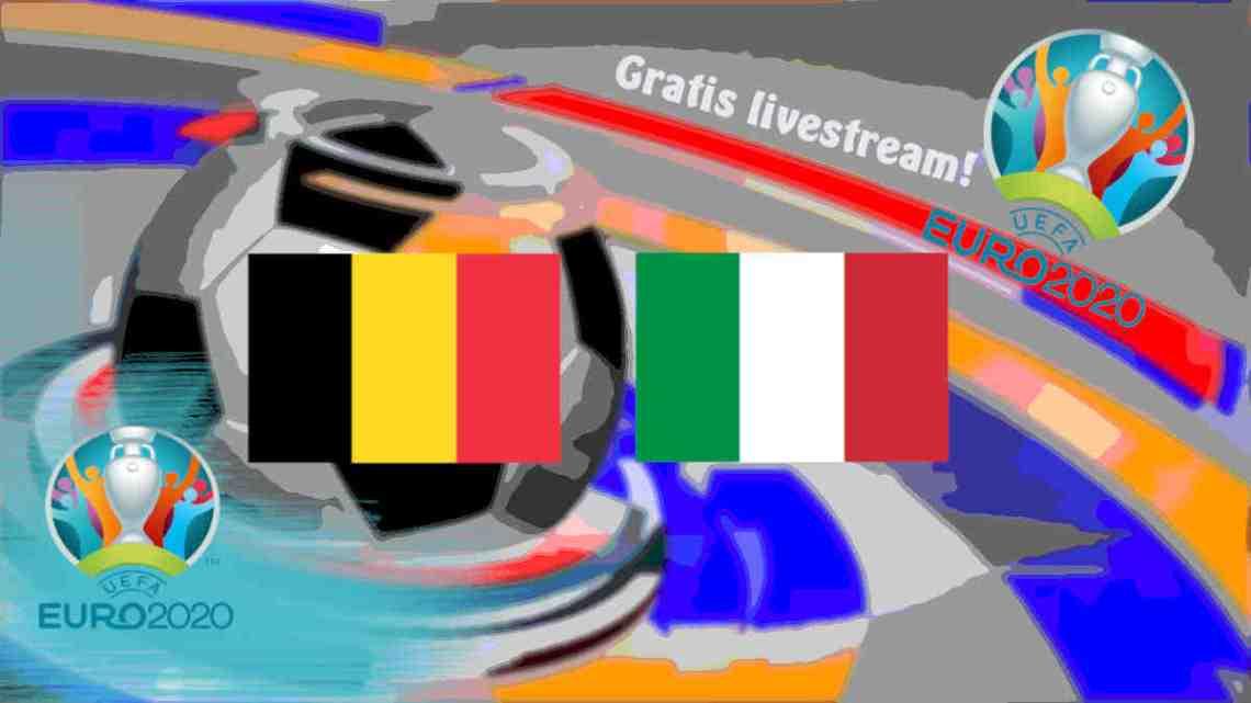 Livestream België - Italië
