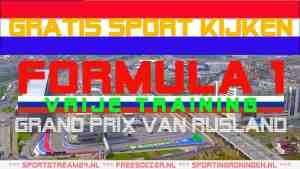 Livestream F1 GP Rusland training
