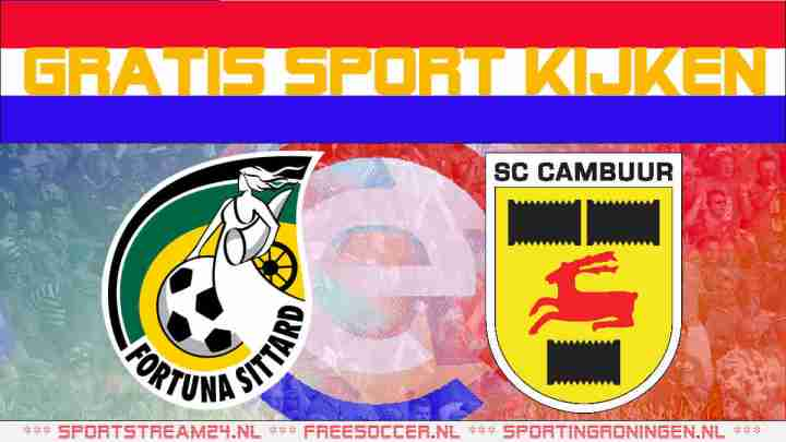 Livestream Fortuna Sittard vs SC Cambuur