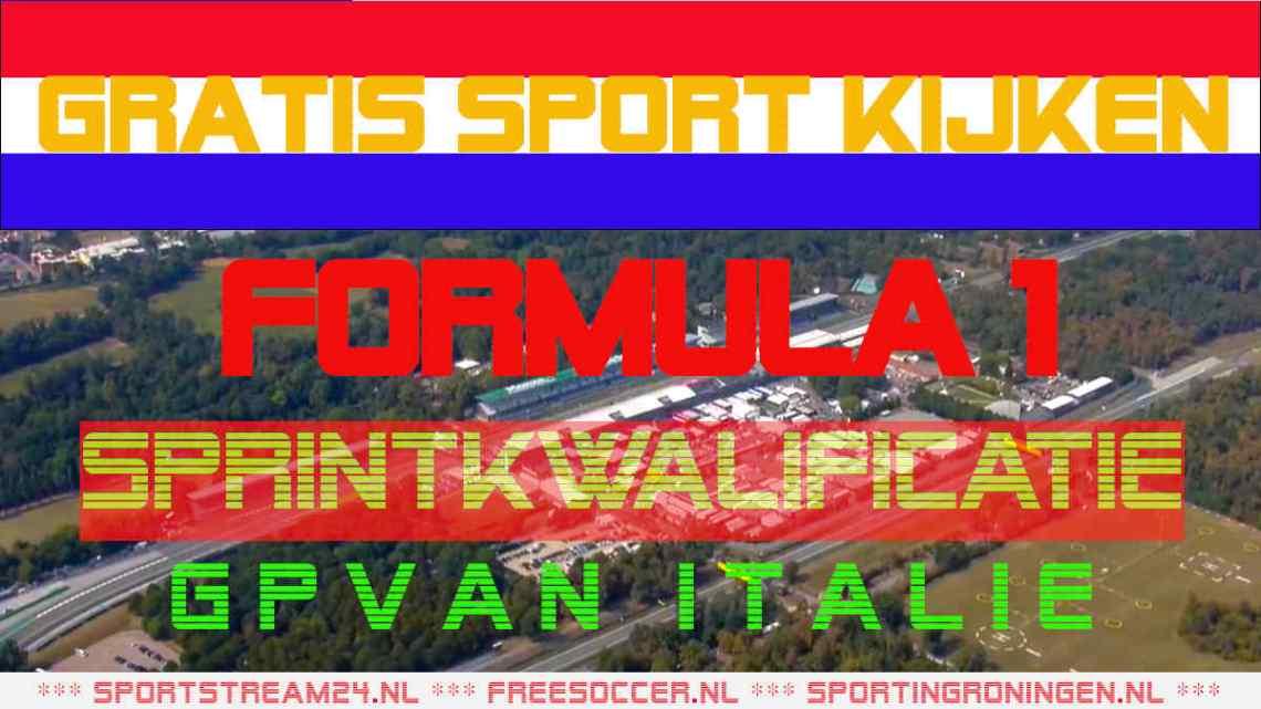 Livestream F1 GP van Italië Sprintkwalificatie