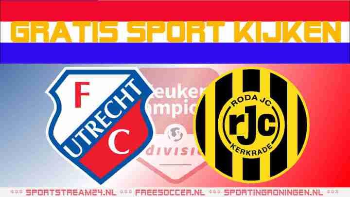 Livestream Jong FC Utrecht vs Roda JC