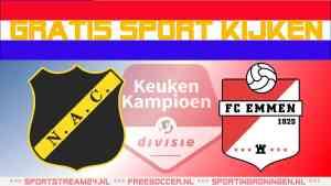 Livestream NAC Breda vs FC Emmen