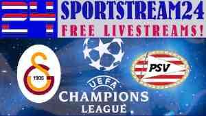 Live Stream Galatasaray - PSV | UEFA Champions League ...