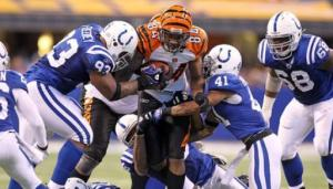 The Bengals struggled to stop the to stop the Colts' passing attack. (Courtesy of Sports Books Bonus)