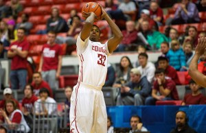 Sophomore Que Johnson's 12 first half points kept the Cougars in the game, despite Stanford's hot start. (Courtesy of KGMI)