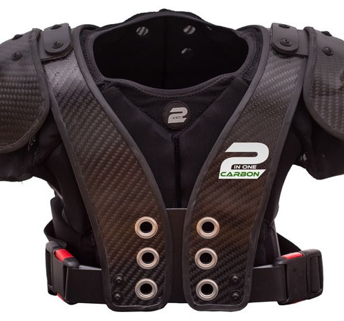 EPAULIERES CARBONTEK CARBON 2 IN ONE FOOTBALL AMERICAIN BACK PLATE