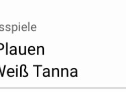 1. FC Ranch Plauen – SG SV Grün-Weiß Tanna 3:3 (1:1)