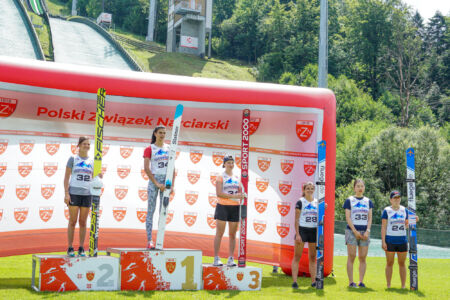 Daniela Haralambie, Elisabeth Raudaschl, Kinga Rajda, Abigail Strate, Yūka Setō, Barbora Blažková - FIS Cup Szczyrk 2018