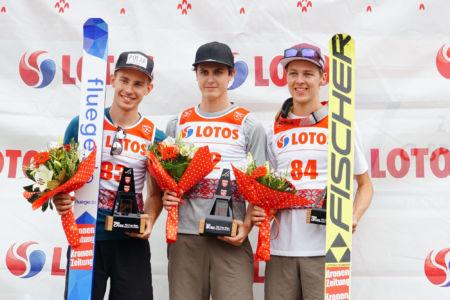 FIS Cup Szczyrk 2019 - 1. Claudio Moerth, 2. Maximilian Steiner, 3. Maximilian Lienher