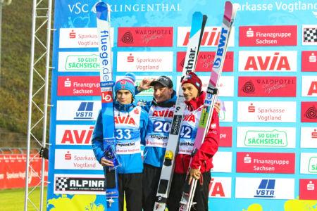 SGP Klingenthal 2019 - Anže Lanišek, Marius Lindvik, Piotr Żyła