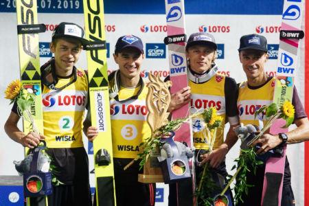 SGP Wisła 2019 Team - Aleksander Zniszczoł, Kamil Stoch, Dawid Kubacki, Piotr Żyła