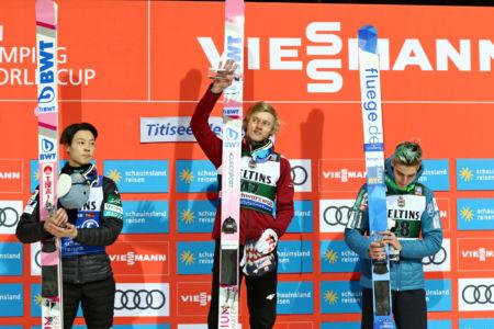 WC Titisee-Neustadt 2020 -  Podium: 1. Dawid Kubacki, 2. Ryōyū Kobayashi, 3. Timi Zajc