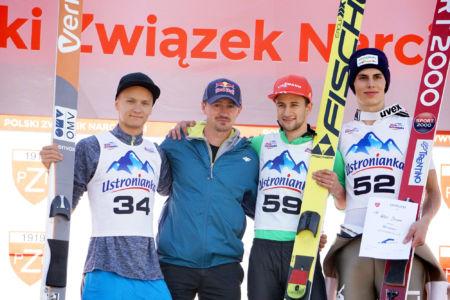 sCoC Wisła 2016 - Daniel Huber, Adam Małysz, Markus Eisenbichler, Alex Insam