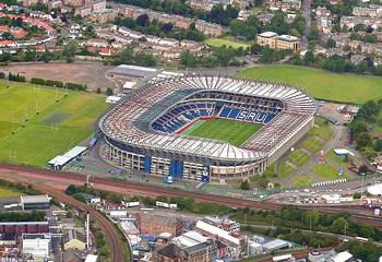 Arial view of Murrayfield Stadium