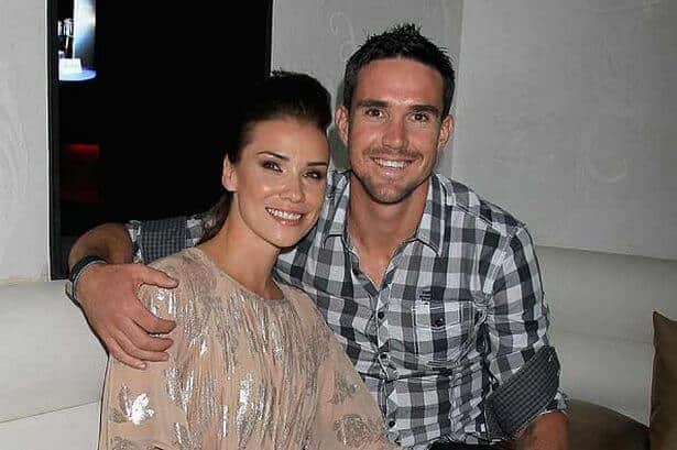Jessica Taylor With Kevin Pietersen