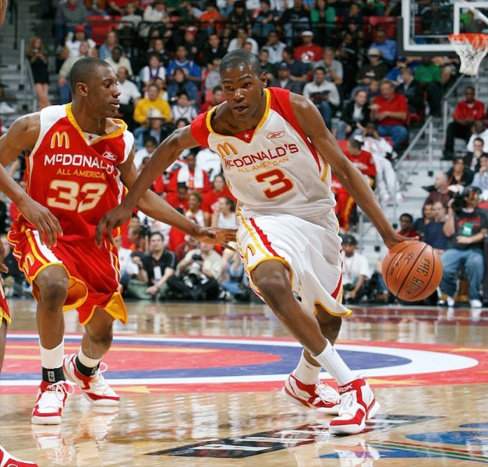 Kevin Durant at the 2006 McDonald All America Games