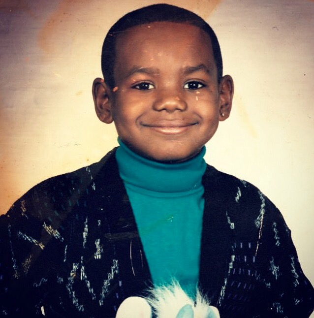 LeBron James Childhood Photo