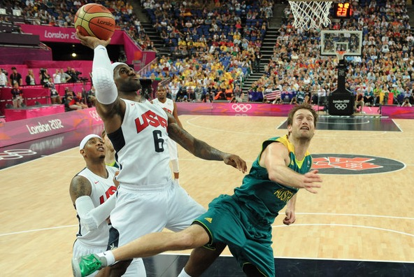 LeBron James of U.S.A – London 2012 Olympic Games Day 12
