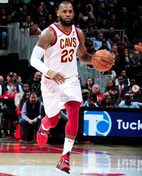 LeBron James playing for Cleveland Cavaliers – 2018
