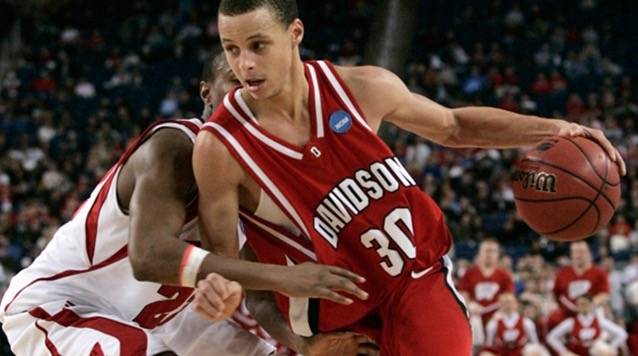 Stephen Curry in action for Davidson College Team, 2008
