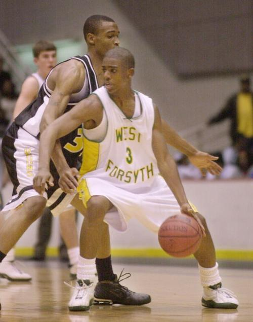 Chris Paul playing for the West Forsyth High school