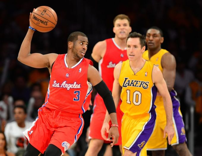 Chris Paul playing with the Los Angeles Clippers