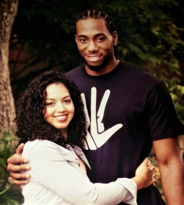 Kawhi Leonard and Kishele Shipley