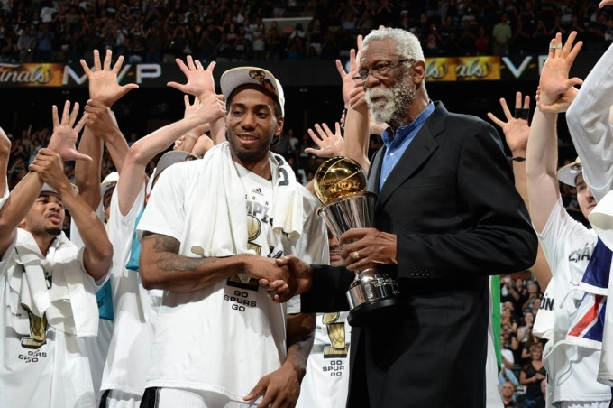 Leonard presented with the NBA Finals MVP
