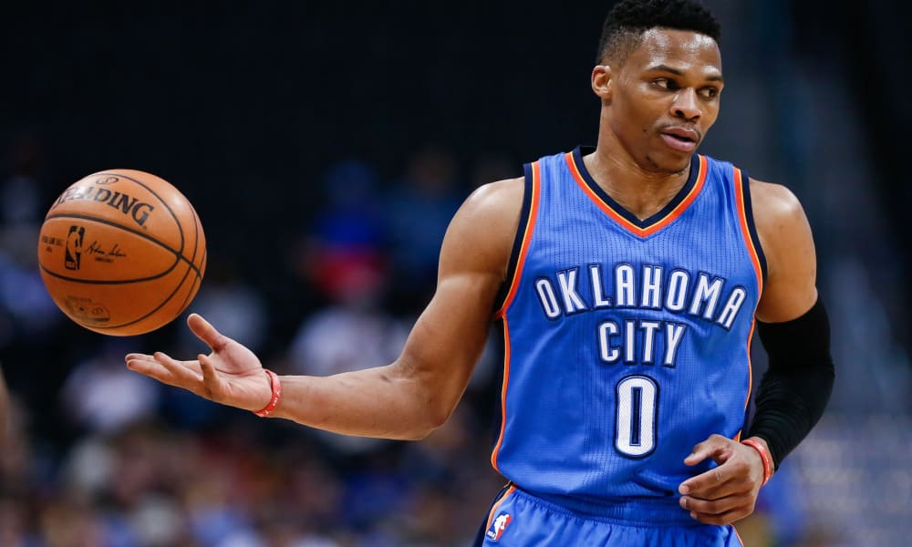 Russel Westbrook Playing for Oklahoma City Thunders 128d0a72e
