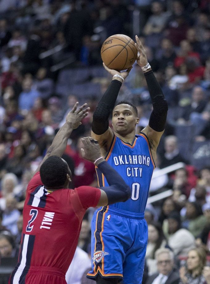 Russell Westbrook NBA Career with OKC in 2017