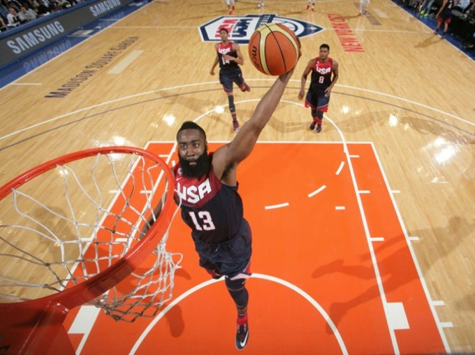 Harden scores for the USA basketball National team