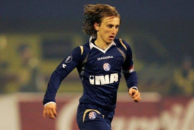 Luka Modric in playing for Dinamo Zagreb