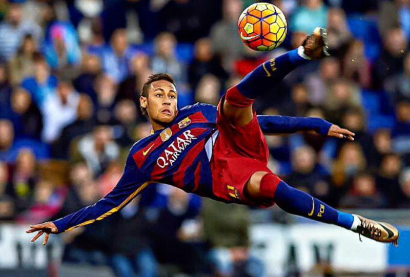 Neymar Jr playing for FC Barcelona