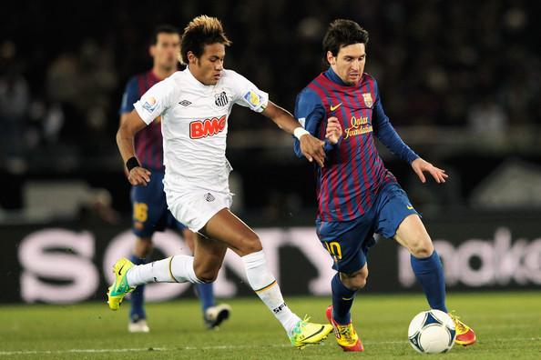 Neymar Jr in action for Santos FC
