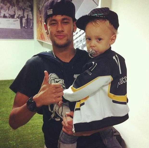 Neymar Jr and his Son Davi Lucca
