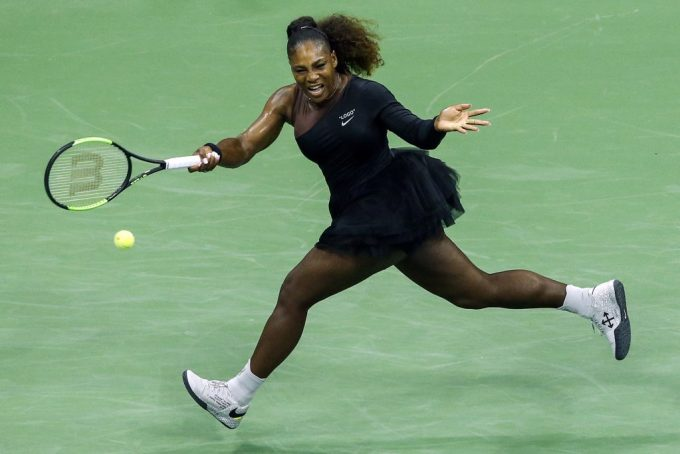 Serena Williams playing in her 2018 US Open outfit