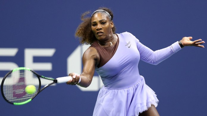 Serena Williams against Anastasija Sevastova on Day 11