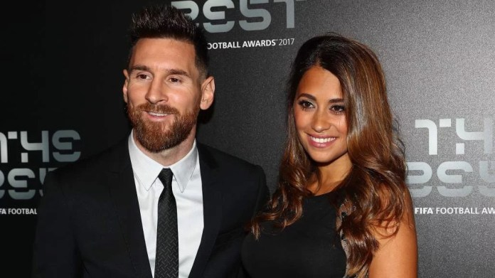 Lionel Messi with his wife, Antonella Roccuzzo