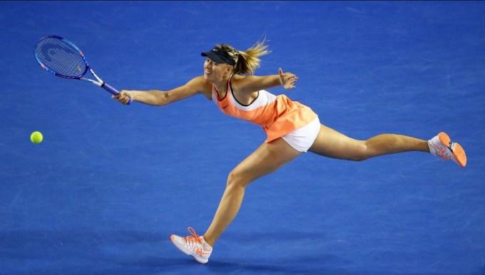Photo Of Maria Sharapova In Action