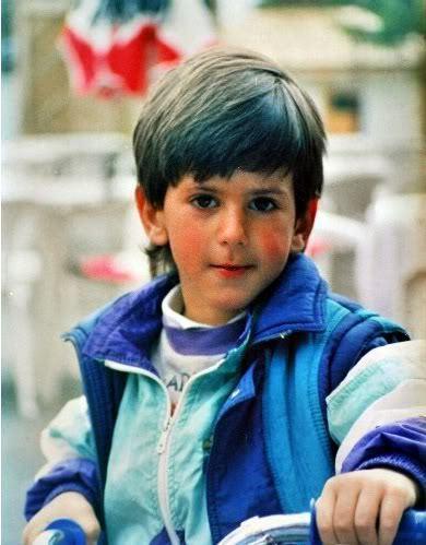 Novak Djokovic as a child