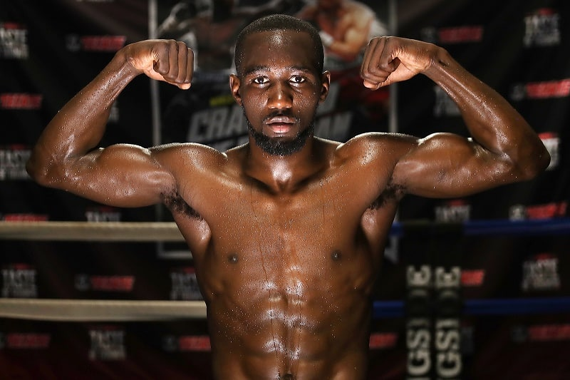Photo of Terrence Crawford after a training day