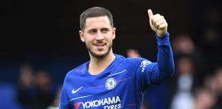 Eden Hazard playing for Chelsea FC