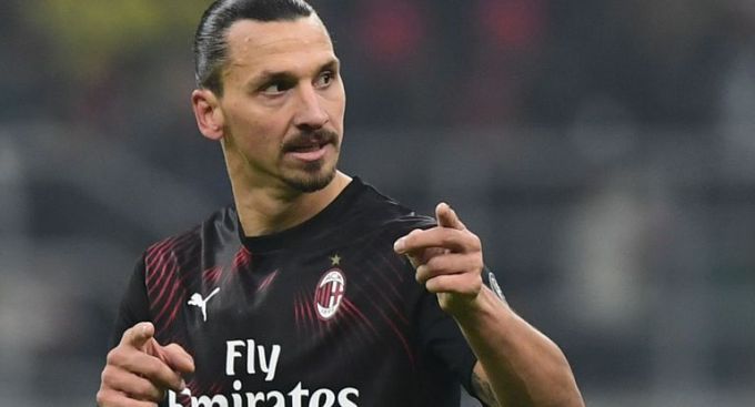 Zlatan Ibrahimović of AC Milan