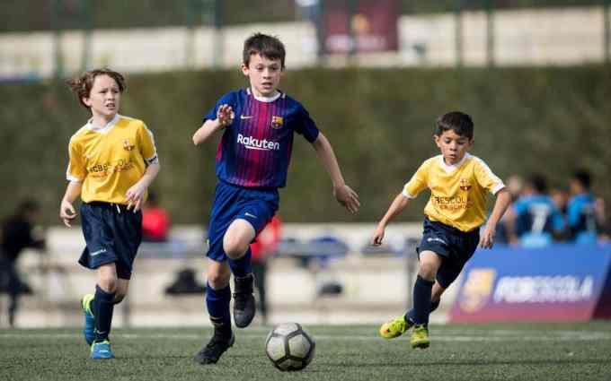Barça Academy - FC Barcelona academy students