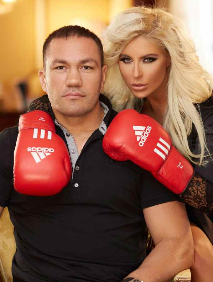 Kubrat Pulev with his girlfriend Andrea