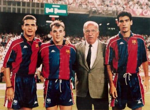 Pep Guardiola Playing for Barcelona in 1992