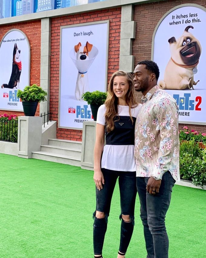 Photo of Brandin Cooks with his wife
