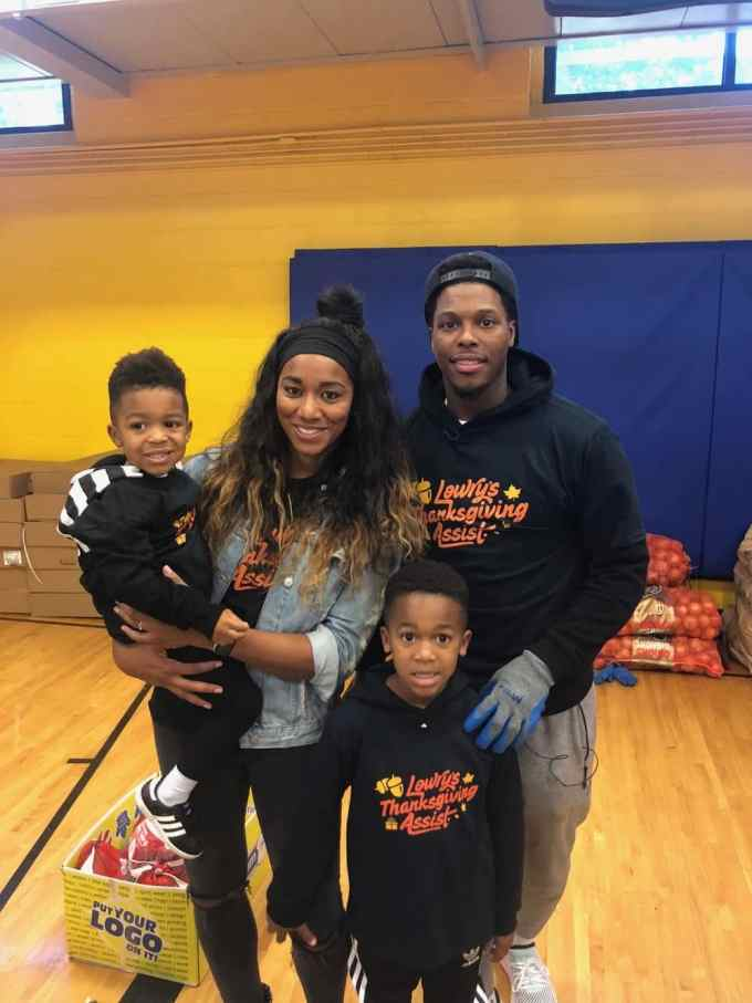 Photo of Kyle Lowry with his family